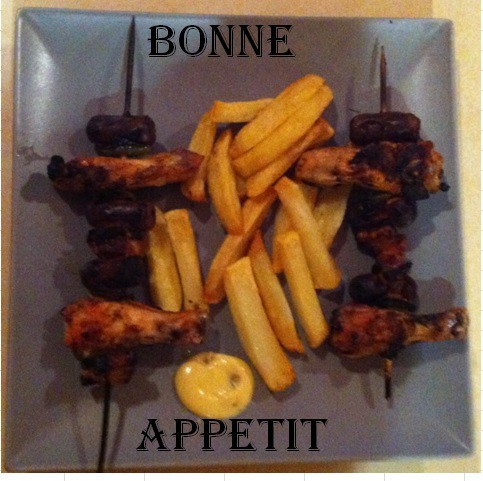 brochettes frites