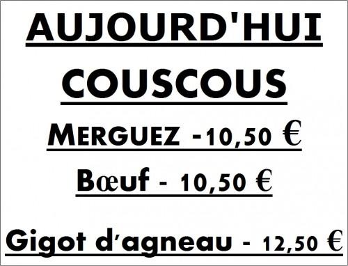 COUSCOUS, MERGUEZ, BOEUF, MECHOUI,COTES D'AGNEAU, BROCHETTES,BOEUF,GIGOT