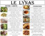 la carte le lynas,grill,couscous