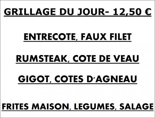 GRILLADE, ENTRECOTE,FAUX FILET, RUMSTEAK,GIGOT, COTE DE VEAU, COTES D'AGNEAU